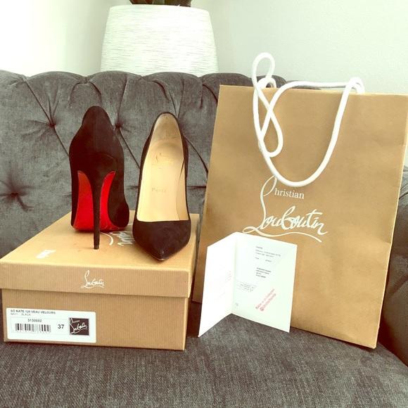 ca8ddf915a19 Christian Louboutin Shoes - So Kate 120 Veau Velours - Black